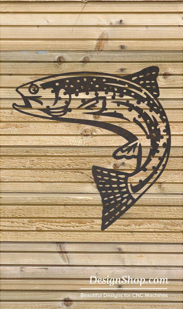 Trout Wall Art - Cut from metal with CNC. This DXF file is designed ...
