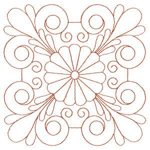 Quilting Feather Daisies embroidery quilt patterns | embroidery ... : feather quilting designs - Adamdwight.com