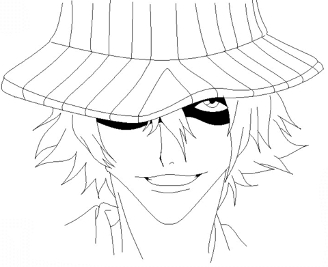 Urahara Kisuke From Bleach Manga Coloring Page From Bleach Category Select From 25683 Printable Crafts Of Cart Coloring Pages Cool Coloring Pages Bleach Manga