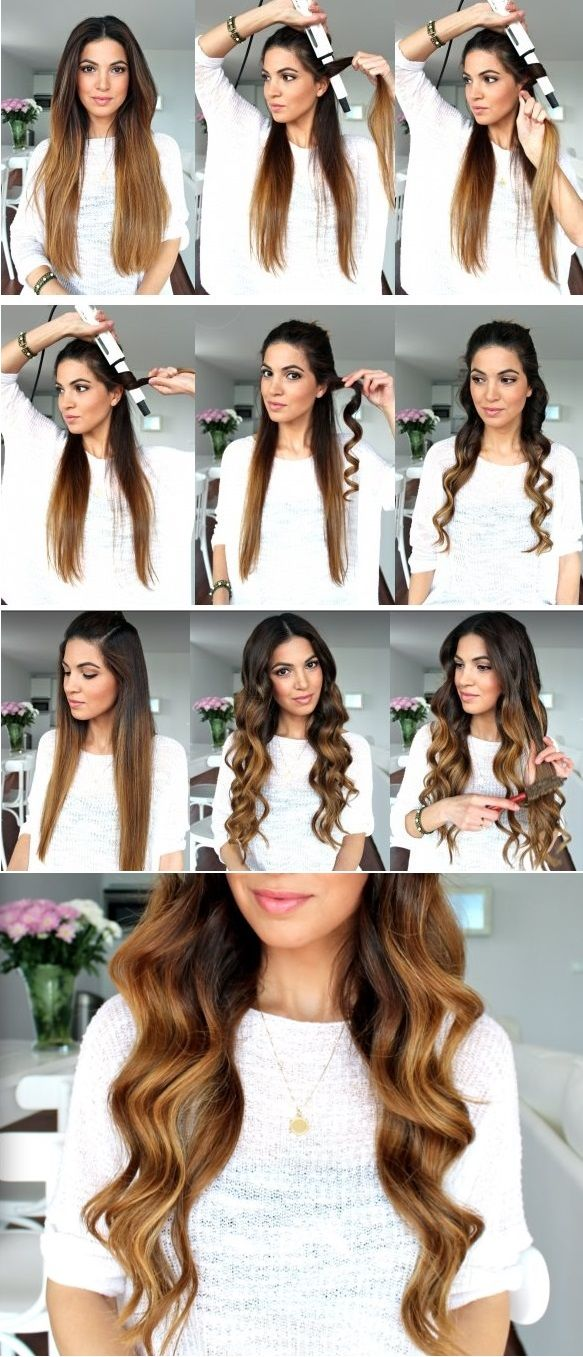 Pin By Linhbee Nguyễn On Curl Hair With Flat Iron In 2020 Hair Styles Waves Hair Tutorial Long Hair Styles