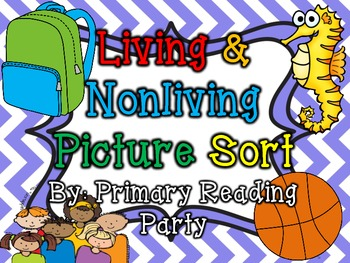 Living and nonliving things picture sort kinder science pre living and nonliving things picture sort ccuart Image collections