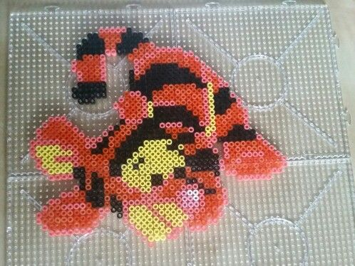 Cool Tigger perler beads by Sara Rodriguez