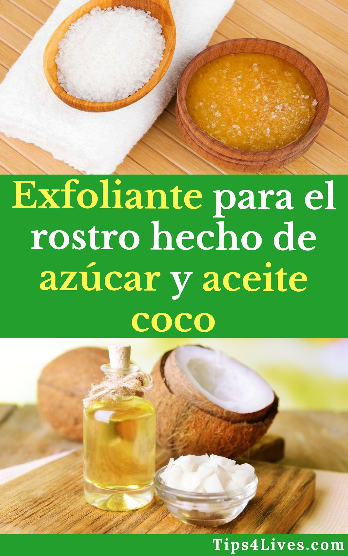 Exfoliante Para El Rostro Hecho De Azúcar Y Aceite Coco Tips Life Vida Salud Remedios Tips4lives Diy Bienestar Exfoliante Bellez Skin Care Tips Skin