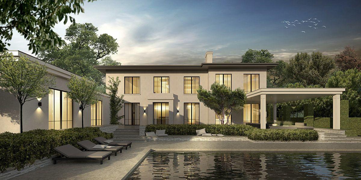 Modern klassieke villa waalre landhuis woning nieuwbouw for Modern landhuis