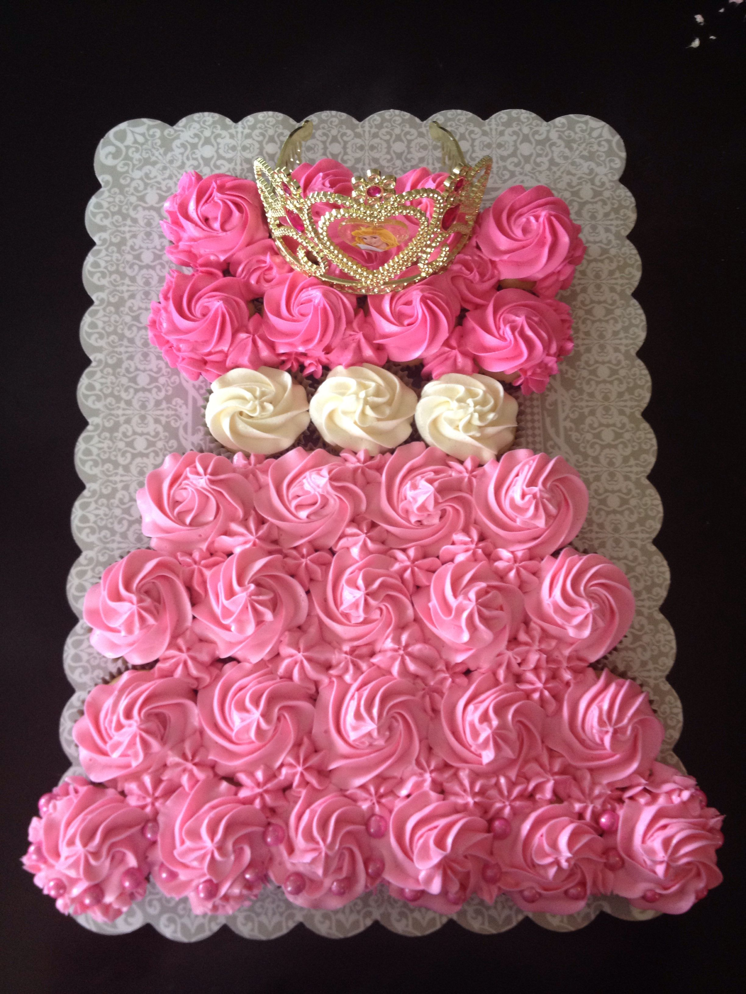 Excellent Sleeping Beauty Cupcake Dress With Images Pink Princess Party Funny Birthday Cards Online Inifodamsfinfo