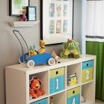 Love these colors for a unisex kid's or baby's room