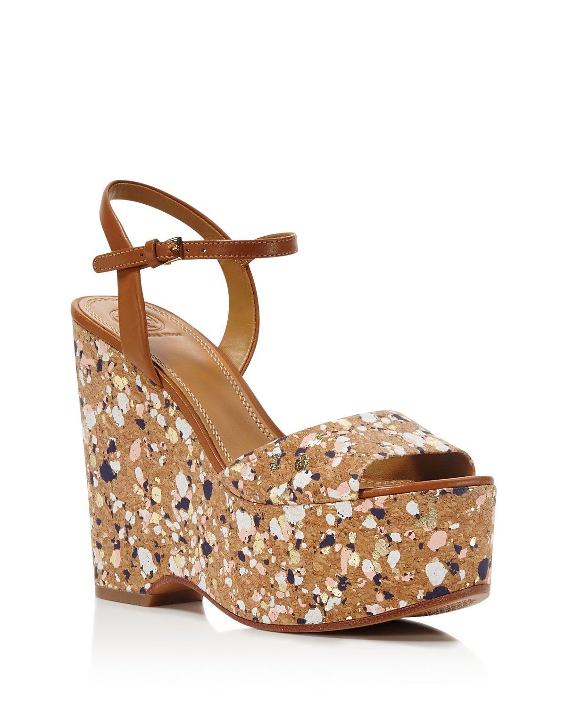 5cd9c5819a8e Tory Burch Solana Confetti Platform Wedge Sandals
