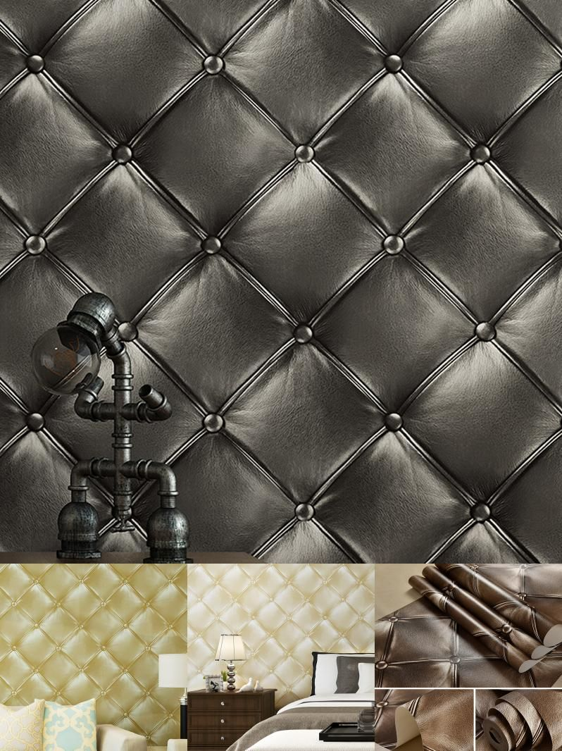 [Visit to Buy] Luxury Deep Embossed Faux Leather 3D