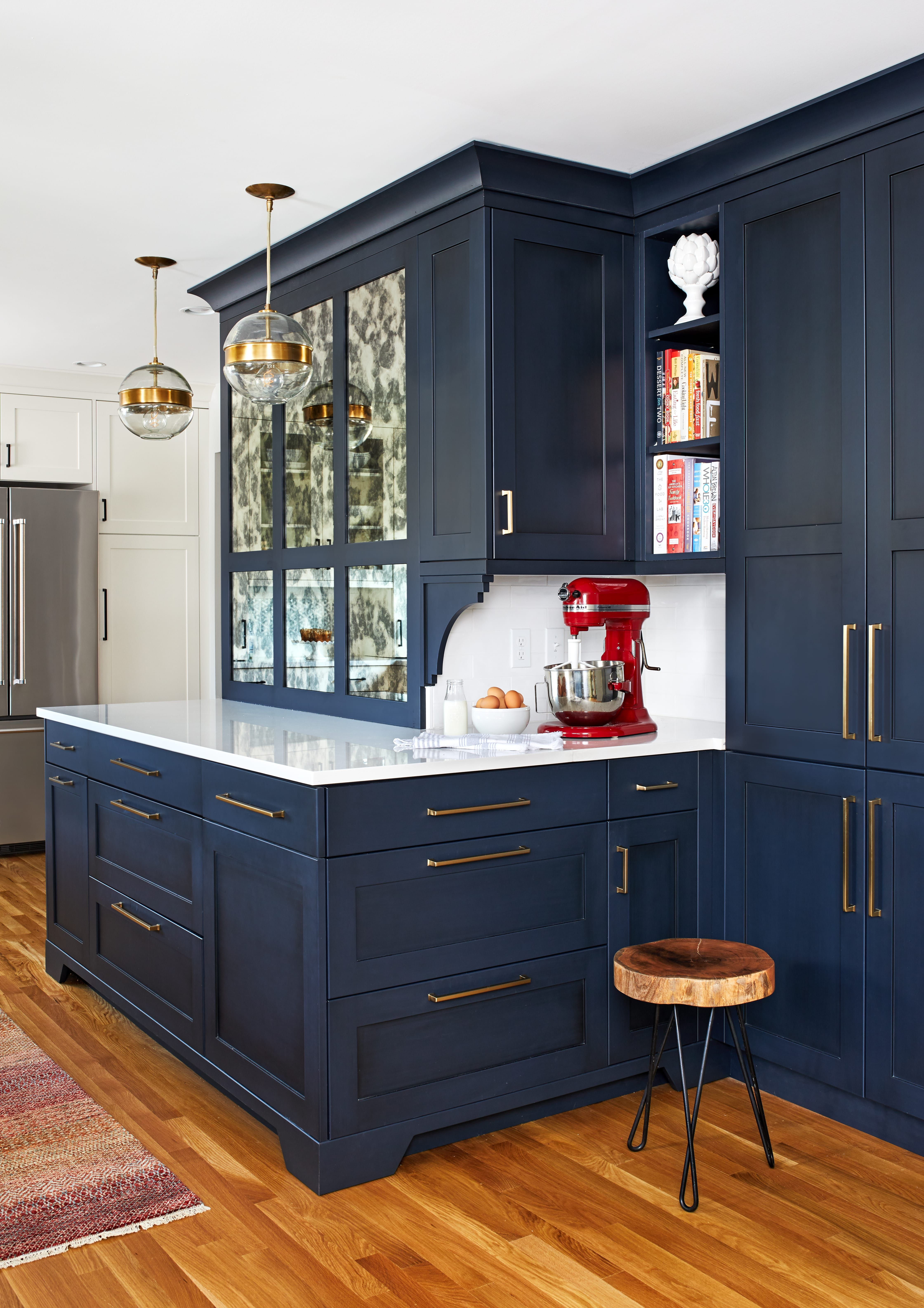 Love This Blue Cabinetry Polo Blue With A Dark Gray Glaze Custom Kitchen Design Kitchen Remodel Contemporary Kitchen Home Remodeling Home Decor Kitchen