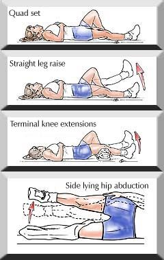 Hip Home Exercise Program Bing Images Hip Replacement
