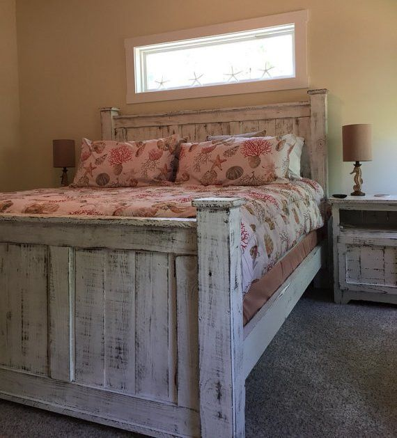 Rustic Queen Size Bedroom Set Bed Dresser And Two Bedside Tables Rustic Bedroom Furniture King Size Bedroom Sets Bedroom Furniture Sets