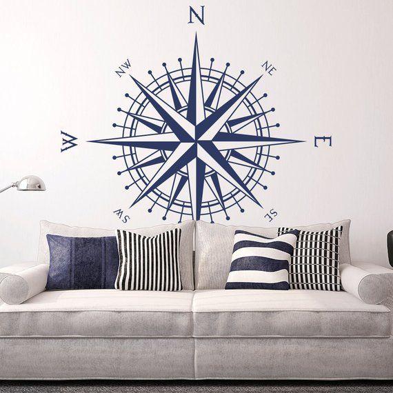 Photo of Sticker mural boussole «Le Matilda» s'adapte à murs, plafonds, tables et plus K651