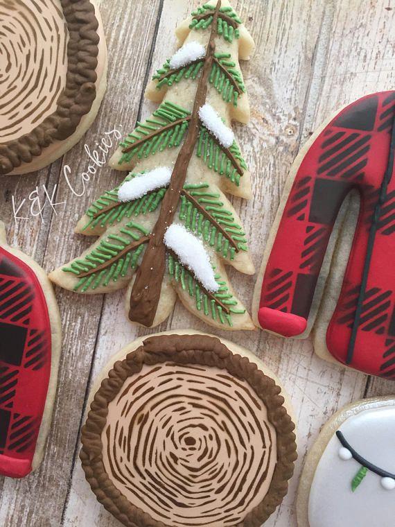 Photo of Lumberjack Winter royal icing sugar cookies