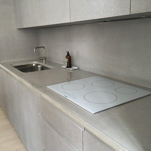 concrete #betong #betongbänk #bänkskiva #betongskiva #köksbänk ...
