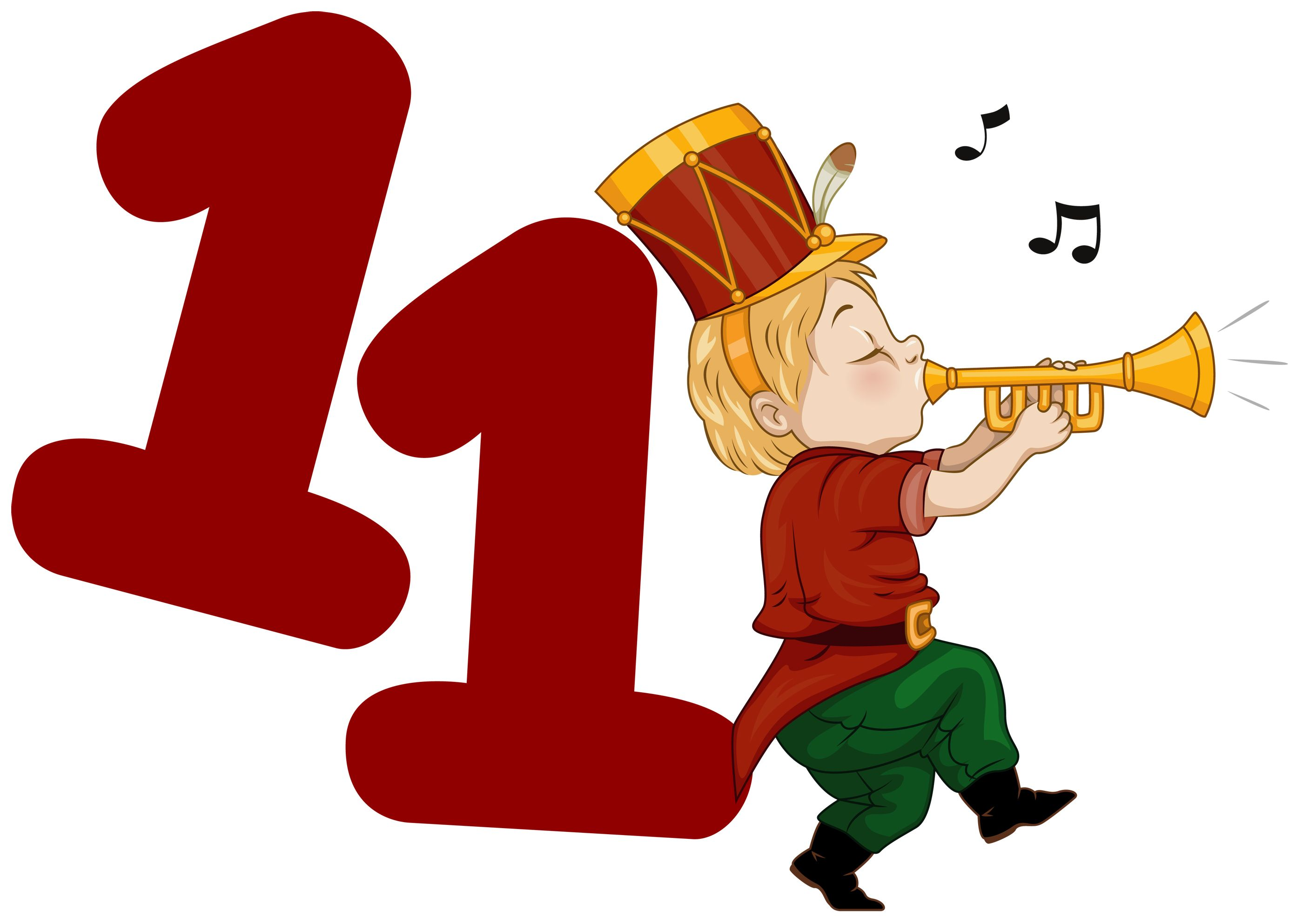 eleven pipers piping on the 11th day of christmas my true love gave to me 11 pipers piping