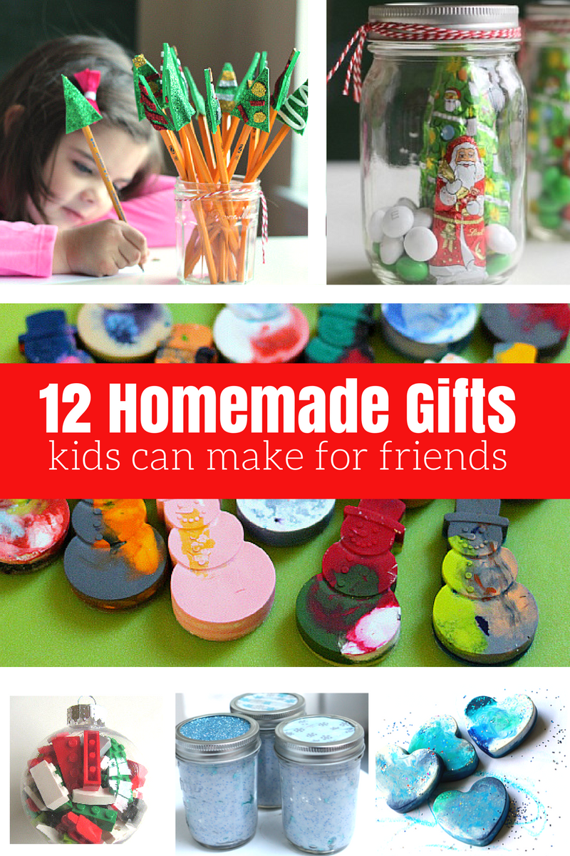 12 Homemade Gifts Kids Can Help Make For Friends And Neighbors No Time For Flash Cards Homemade Kids Gifts Christmas Gifts For Kids Homemade Gifts For Friends