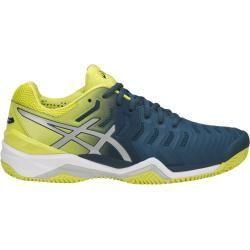 tennis shoe Asics Gel Resolution 7 Clay 2018 blaugelb