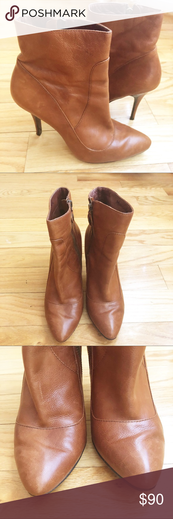 1d51931b69758 Vero Cuoio Cognac Modern Vintage Booties Size 8.5 Gently used in excellent  condition Natural leather creasing and minor scuffs Vero Cuoio Shoes Ankle  Boots ...