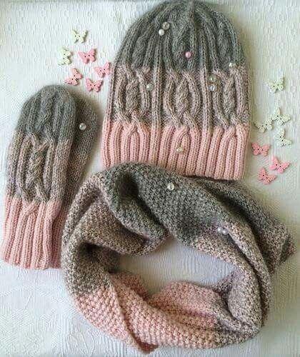 Knit scarf cap models Knit scarf cap models