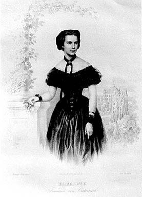 Elisabeth, Kaiserin von Österreich. H. Kohler nach Photographie von Franz Hohbach. 1853/4?