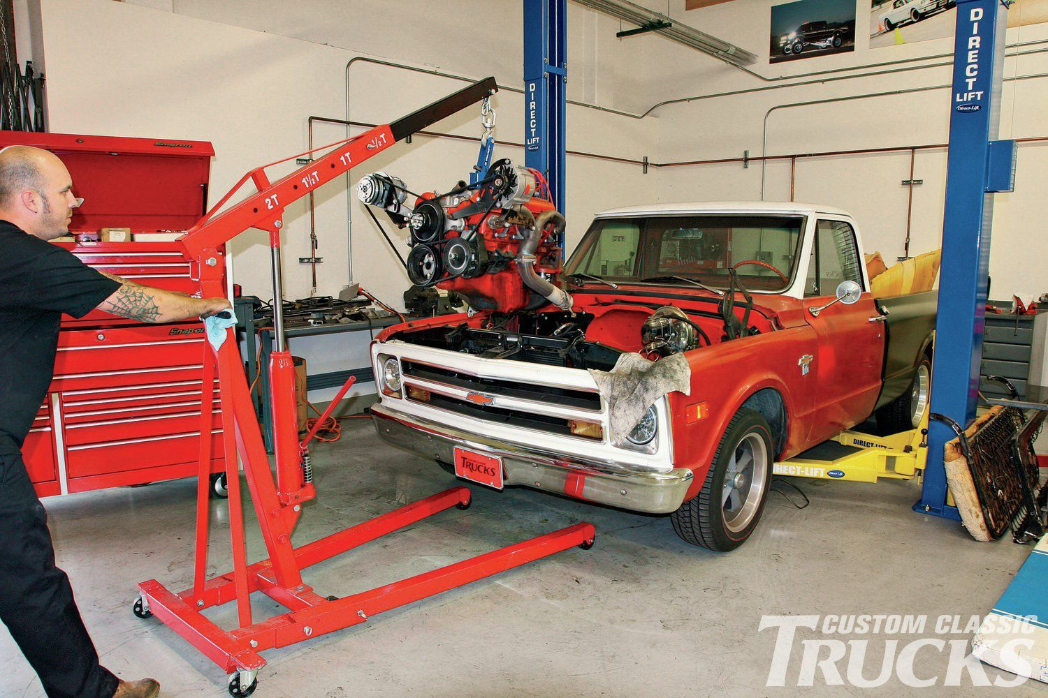 We show you how to drop an LS Engine using our 1968 Chevy
