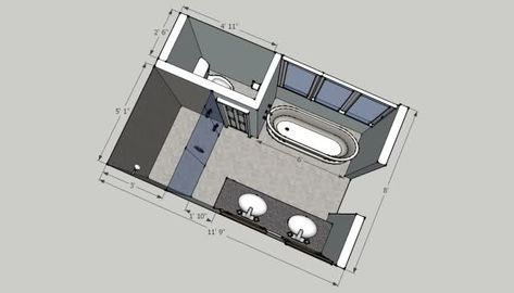 56 ideas bathroom layout 8x12 in 2020 | bathroom layout