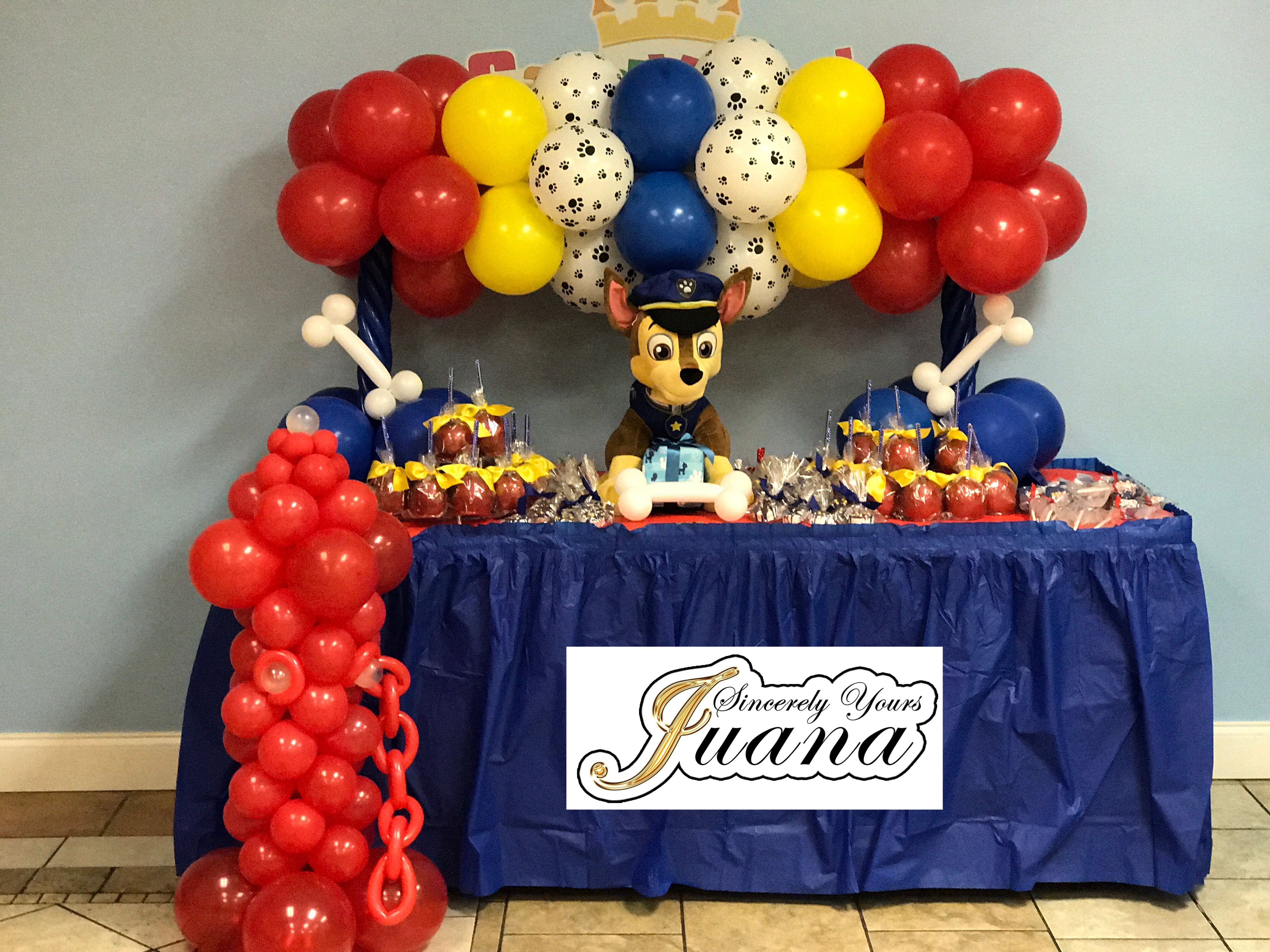 Paw Patrol Candy Table And Decor Candy Birthday Party Paw Patrol Birthday Party Paw Patrol Birthday