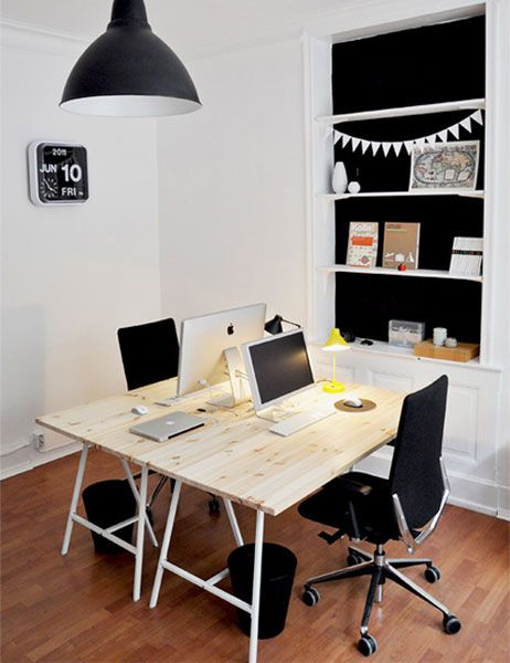 Great Home Office Look U0026 5 Organizational Tips For A Room Centered Desk