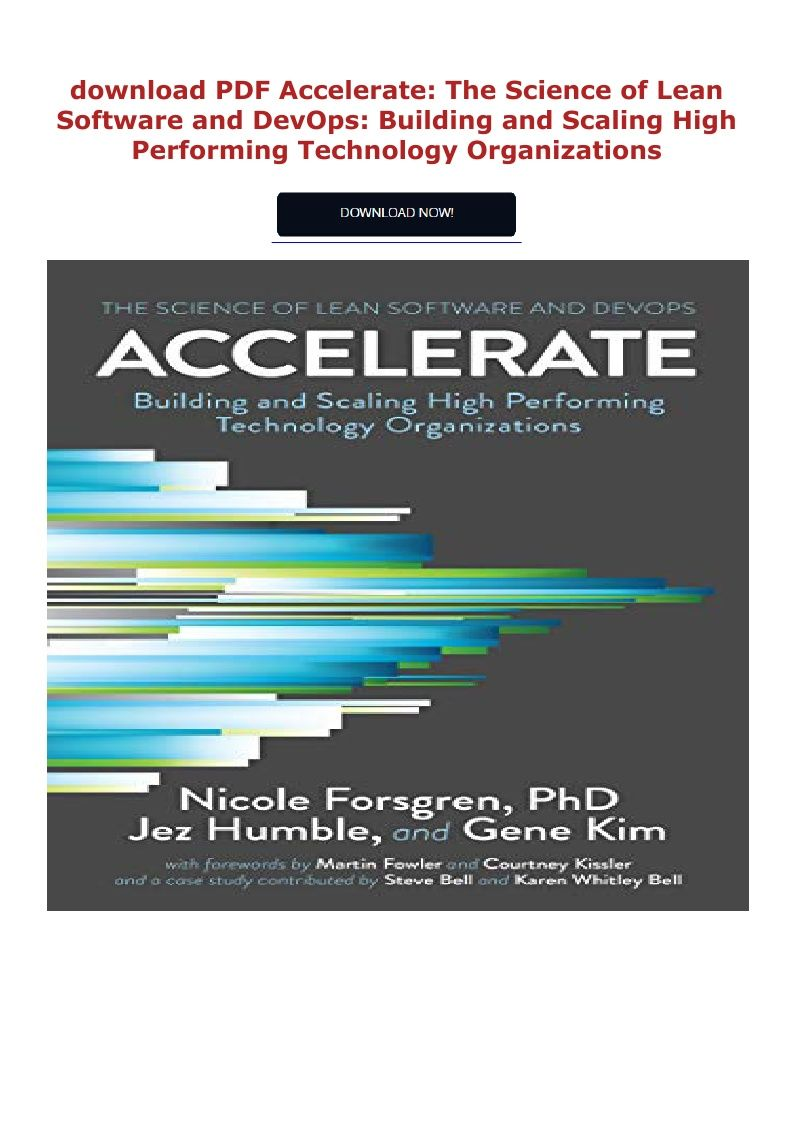 Pdf Download Accelerate The Science Of Lean Software And Devops