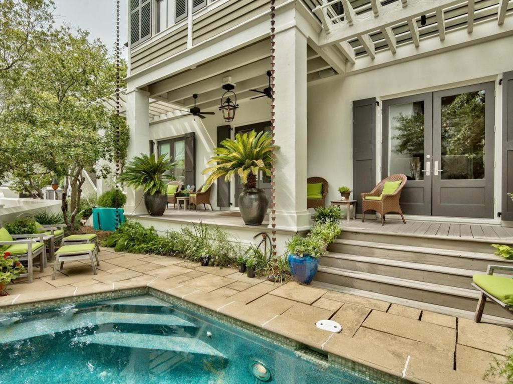 Barbarossa Beautifully Decorated 4br Home South Of 30a Private Pool Rosemary Beach Rosemary Beach Pool Maine House