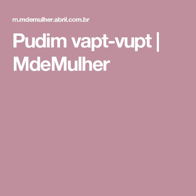 Pudim vapt-vupt   MdeMulher