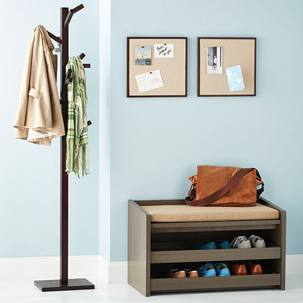 Pantry Shelves Starter Kit: Container Store, Entryway Shoe Bench