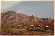 Green Valley Arizona Desert Hills Golf Course Vintage Real Photo Postcard
