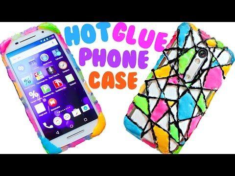 Diy Hot Glue Phone Case Neon Geometric Design Youtube Capa