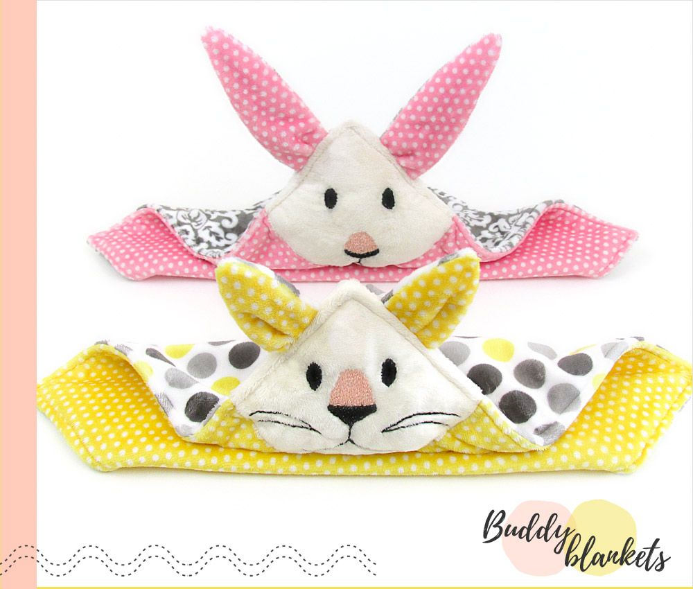 Tutorial and pattern animal buddy blanket for kids baby sew