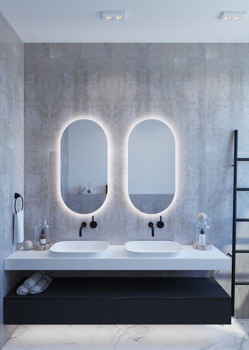 Ablaze Luminous Oval Backlit Bathroom Mirror Backlit Bathroom Mirror Oval Mirror Bathroom Bathroom Mirror Design