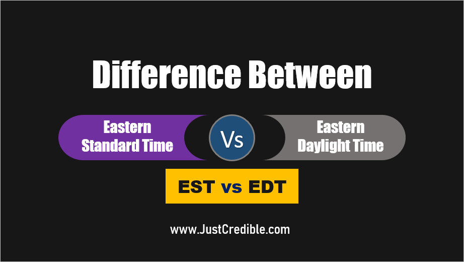What Is The Difference Between Est And Edt Solar Time Edt Eastern Time Zone