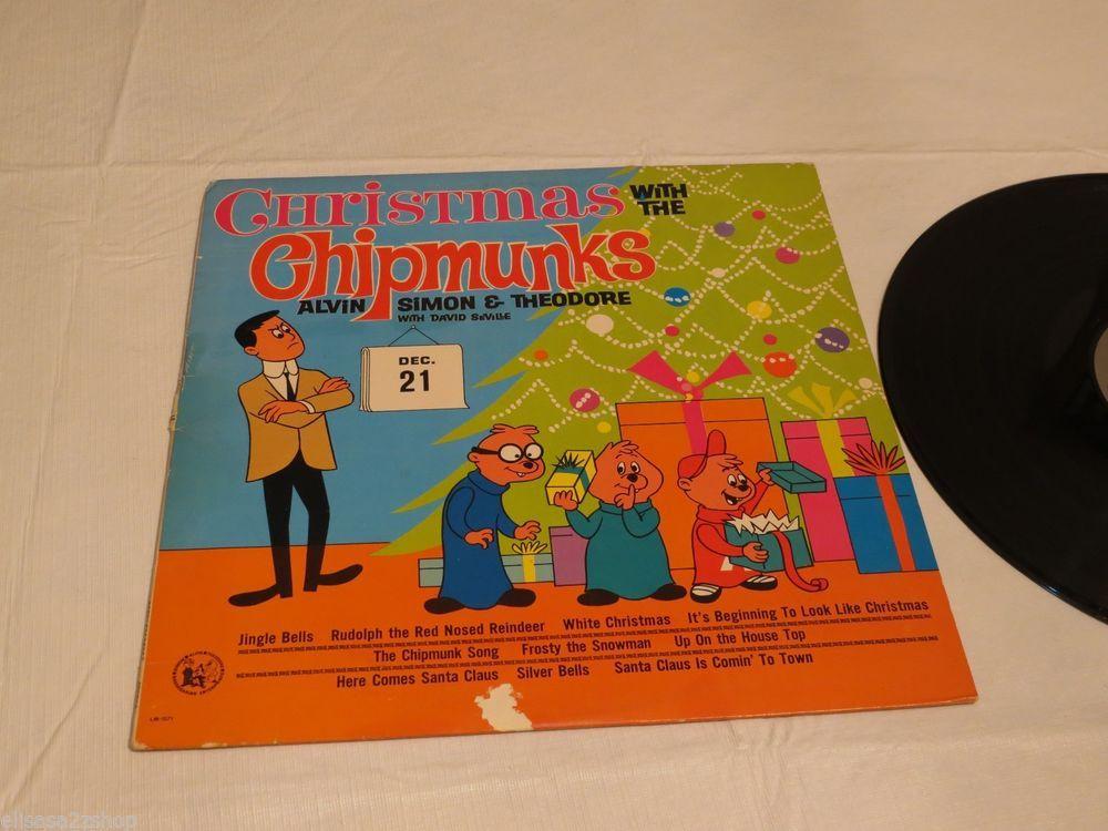 Christmas with the Chipmunks Alvin Simon Theodore LP Album RARE ...