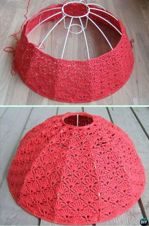 Lampshade Tutorial Beautiful Skills Crochet Knitting Quilting Crochet Lamp Crochet Lampshade Vintage Crochet