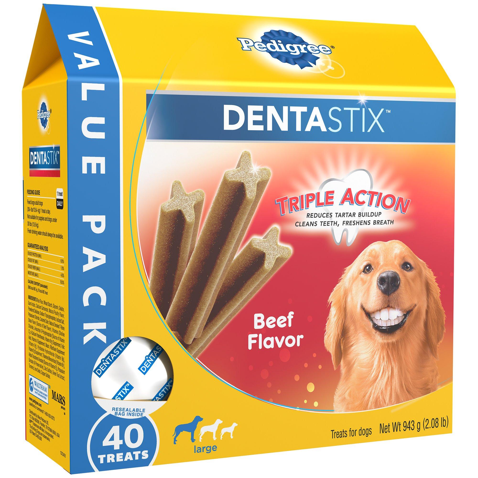 Pedigree Dentastix Beef Flavor Value Pack Large Treats For