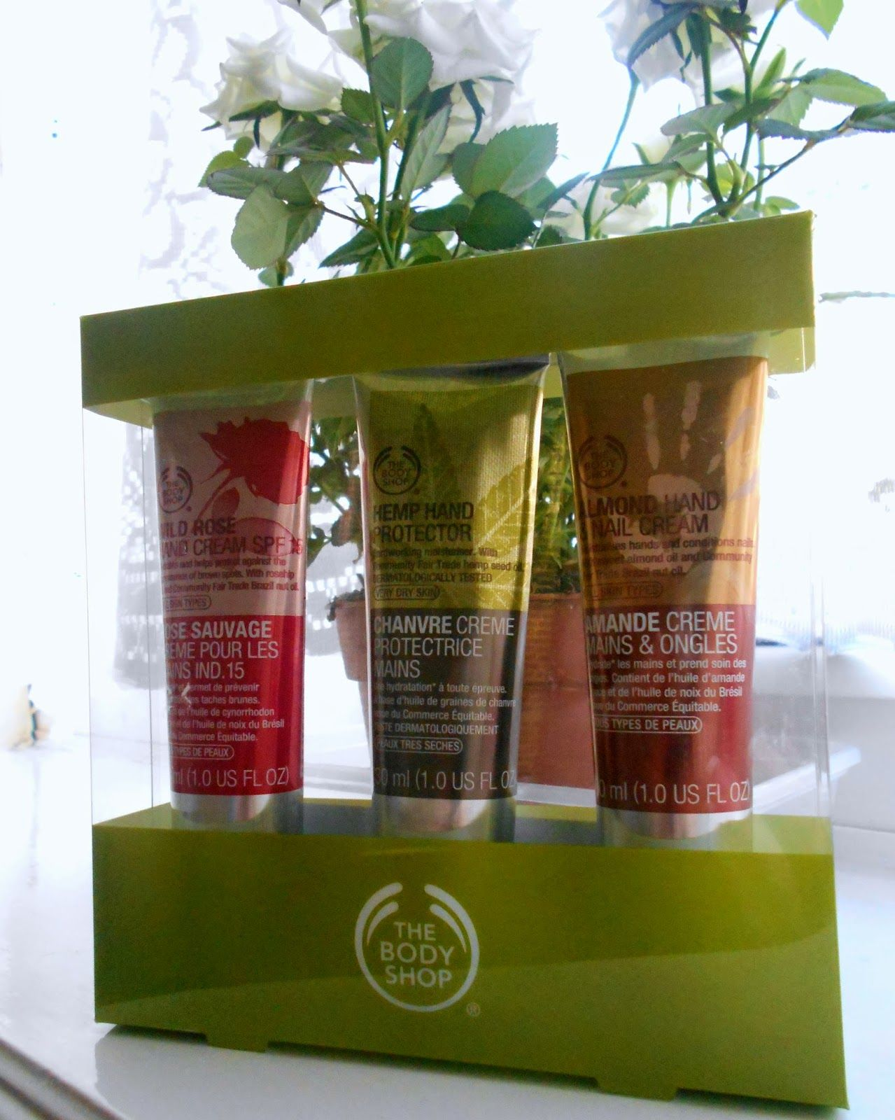 The Body Shop Wild Rose Hand Cream Hemp Hand Protector And
