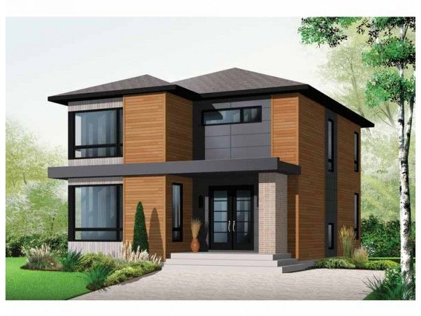 Contemporary Style House Plan 3 Beds 1 5 Baths 1852 Sq Ft Plan 23 2554 Modern Contemporary House Plans Modern Style House Plans Contemporary House Plans