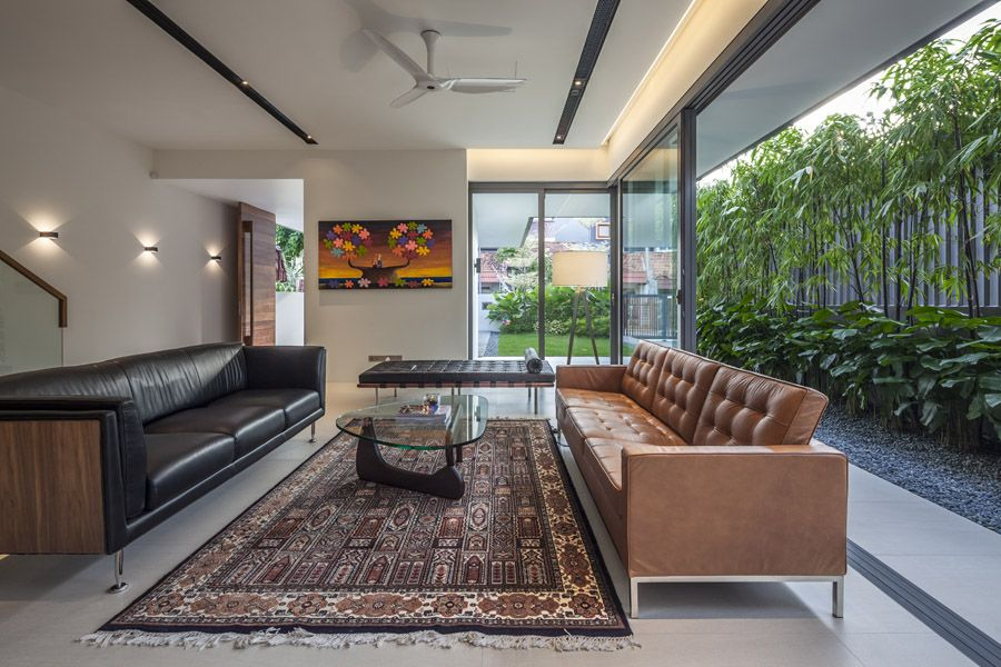 Modern single family house designed by wallflower architecture design situated in serangoon singapore