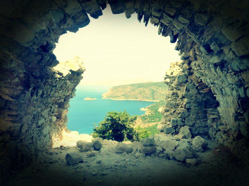 Through the keyhole? Rhodes.