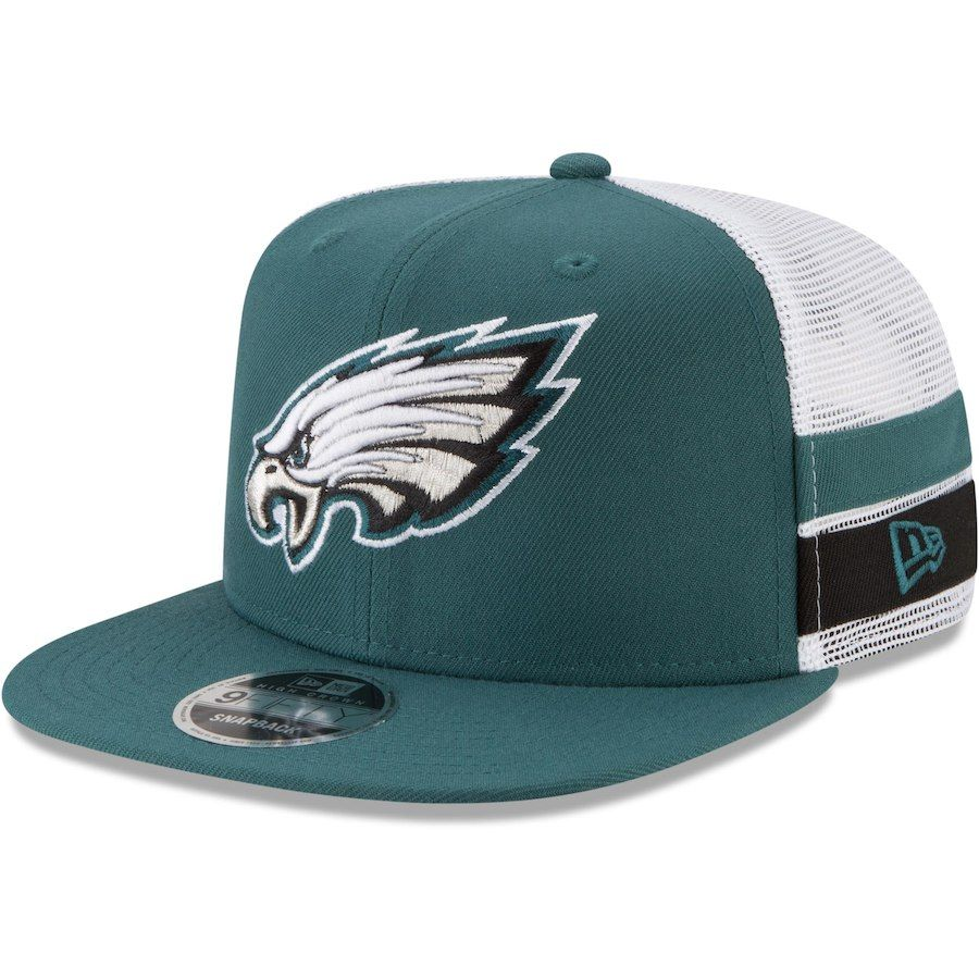 Philadelphia Eagles New Era Retro Cuffed Knit Hat With Pom White Midnight  Green  PhiladelphiaEagles 8f5a9430e
