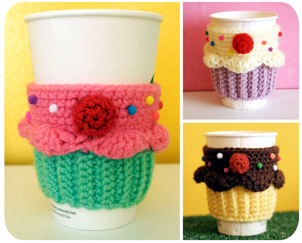 New Free For 48hrs Crochet Pattern Cupcake Coffee Cup Cozy