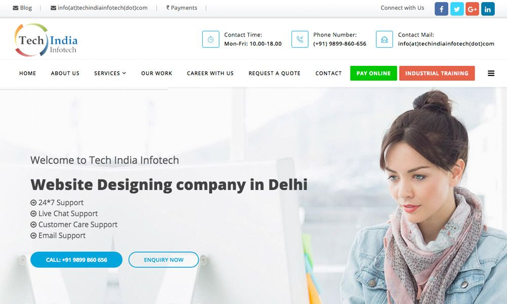 Tech India Infotech Is A Delhi Based Seo Company That Provide High Quality Search Engine Optim Best Seo Company Seo Company Search Engine Optimization Services