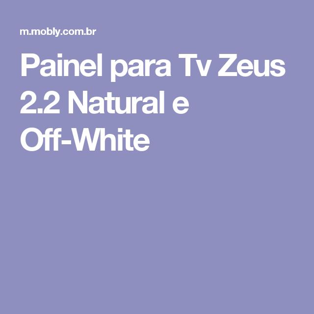 Painel para Tv Zeus 2.2 Natural e Off-White