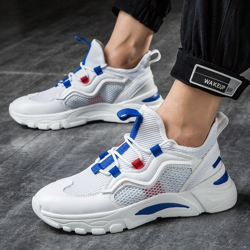 Popular youth high quality Fashion Trend For Men Casual Shoes Hombre Sapatos Comfortable Breathable 2019 New mesh Male sneakers