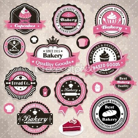 Vintage Frame With Bakery Cake Label Template  Crafts